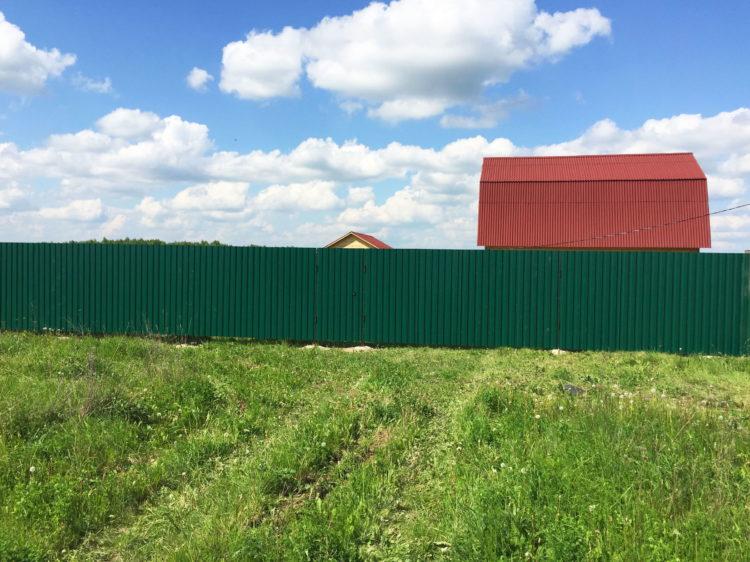 Забор из профнастила с8, г. Хотьково